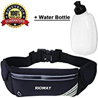 Rioway Running Belt- iPhone X 6 7 8 Plus Waist Bag With...