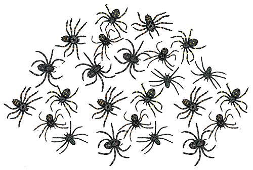 Kicko Stretchy Spider 2 Inches - Pack of 24 - Black with Assorted Colors Dots - for Kids - Great Party Favors, Bag Stuffers, Fun, Prank, Halloween, Toy, Gift, Prize, Piñata Fillers]()