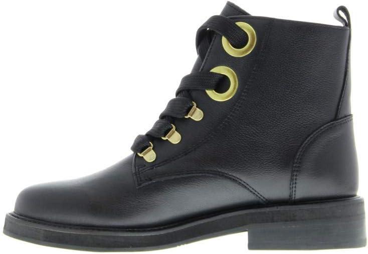 Tango - Pleun fat 353-a black leather/big rings/ski hooks - black sole - Maat: Black