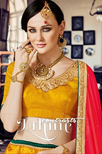 PCC Womens Yellow Color Striking Lehenga Choli With Embroidery Work 80381 80381