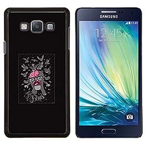Qstar Arte & diseño plástico duro Fundas Cover Cubre Hard Case Cover para Samsung Galaxy A7 A7000 (Pájaro divertido Ataque Cerebral)