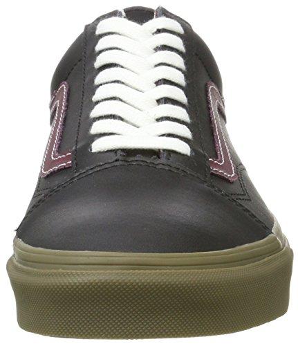 Bestelwagens Unisex Old Skool Classic Skate Schoenen Bleker Black Port Gum