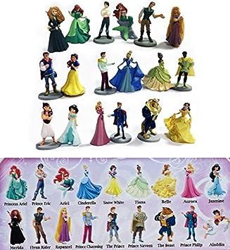 Set Completo 18 Mini Figuras de Colleccion 4cm PRINCESAS y PRINCIPES Disney ORIGINAL Bully Bullyland: Amazon.es: Juguetes y juegos