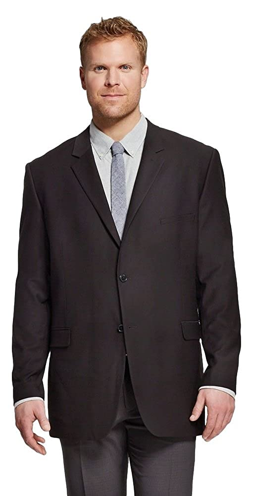 Merona Men's Big and Tall Slim Fit Suit Jacket (Ebony, X-Large Tall) Masked Brand