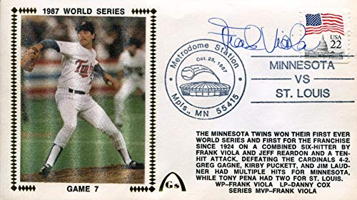 Frank Viola Autographed 1987 World Series First Day -
