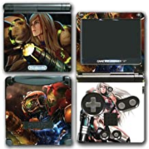Super Smash Bros Melee Brawl Zero Suit Samus Metroid Varia Suit Video Game Vinyl Decal Skin Sticker Cover for Nintendo GBA SP Gameboy Advance System
