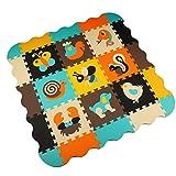 Menu Life P010 Soft Foam Play Mat Interlocking EVA Soft Jigsaw Puzzle Foam Baby Child Play Area Yoga Exercise Mats (30 x 30 x 1cm, 9pcs Play Mats with Fences)