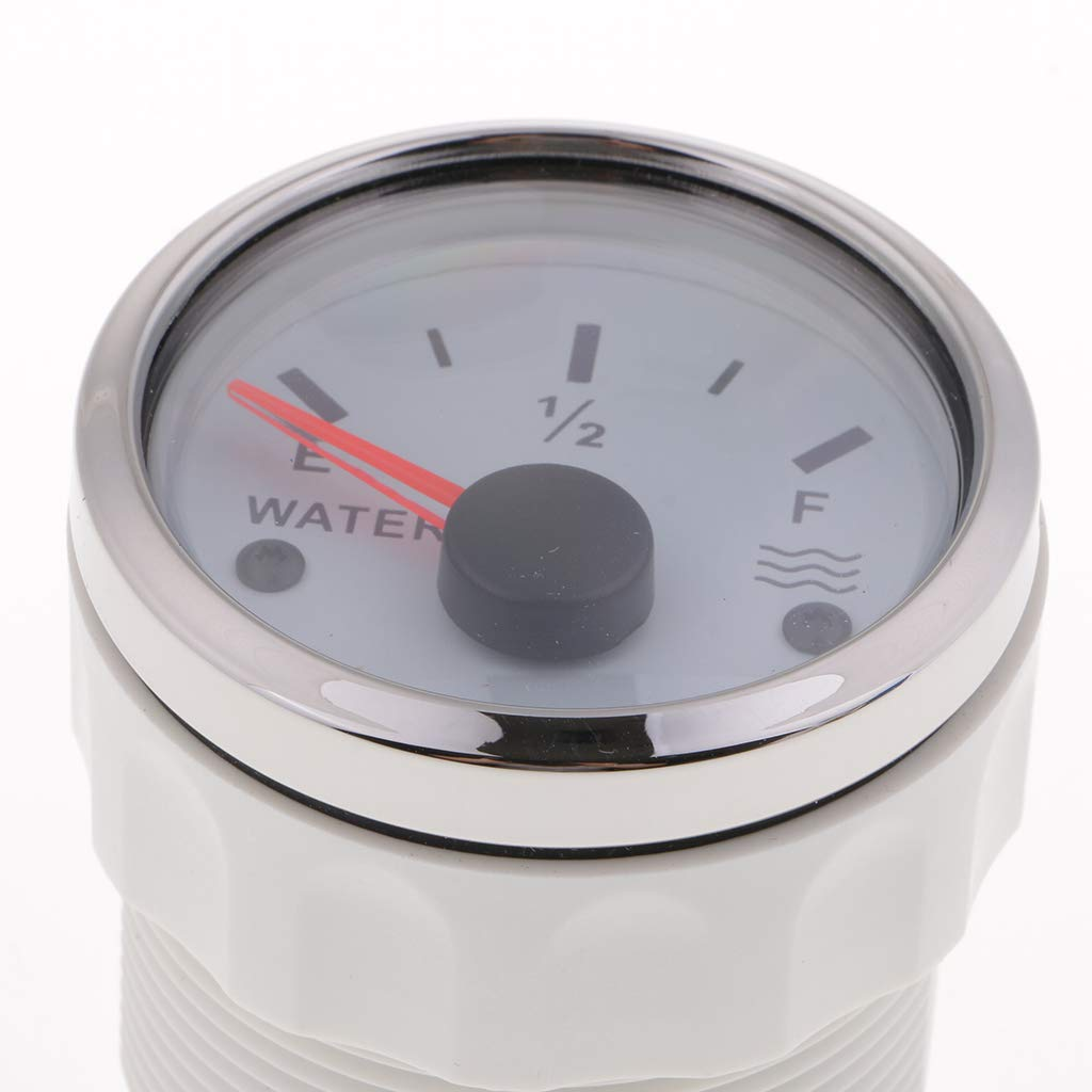 Indicador De Nivel De Agua Medidor De Nivel De Tanque De Agua De Barco 12 24v 52mm 240-33 Ohmios Blanco
