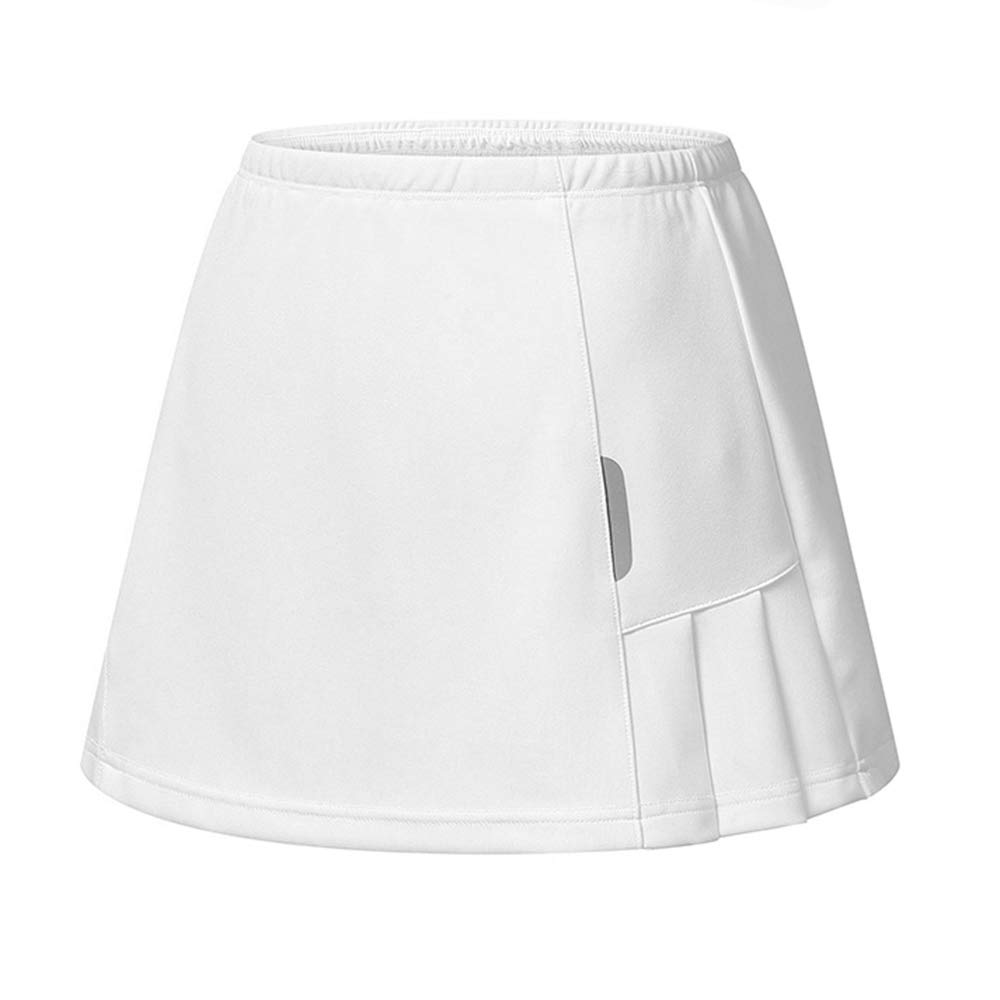 RainbowTree Women's Active Performance Skort Casual Pleated Skirt for Running Tennis Golf Workout White by RainbowTree