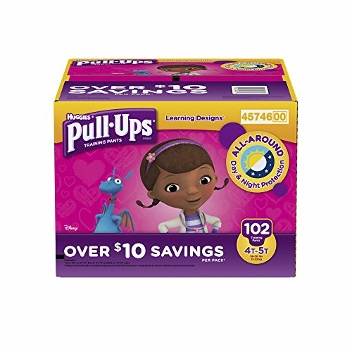 Branded Pull-Ups Learning Designs Training Pants for Girls, Size 4T-5T, 102 ct. (diapers - Wholesale Price (Bulk Qty at Whoesale Price, Genuine & Soft Baby diaper)