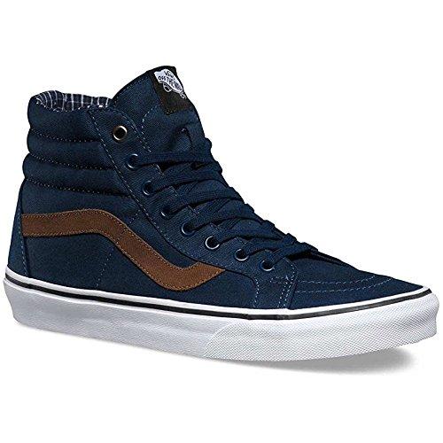 Vans V004OKJSC Unisex Sk8-Hi Reissue Skate Shoes, Dress Blues/White, 9.5 B(M) US Women/8 D(M) US Men (Hi Sk8 Vans)