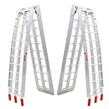 Goplus 7.5' Heavy Duty Aluminum Motorcycle Bike Ramp Arched Foldable Loading Ramps