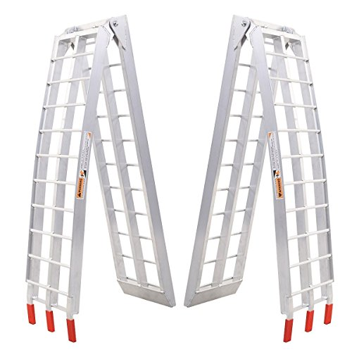 Goplus Aluminum Motorcycle Foldable Ramps Pair