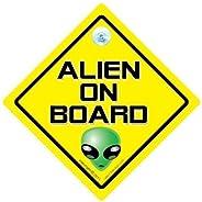 DRIVING iwantthatsign.com Alien On Board Car Sign, Alien Car Sign, Baby On Board Car Sign, Alien On Board Car