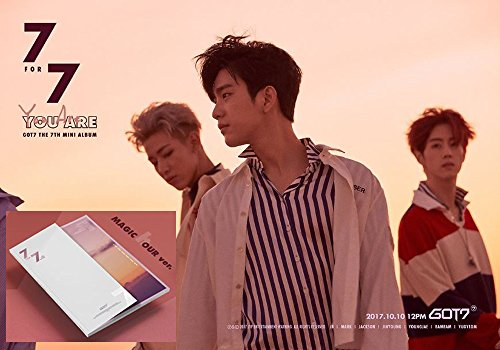 Price comparison product image 7 For 7 GOT7 [MAGIC hour A Ver.] 7th Album CD + Official Poster + Cover + Photo book + Photo card + Lyrics book + Extra 4 Photo cards Set