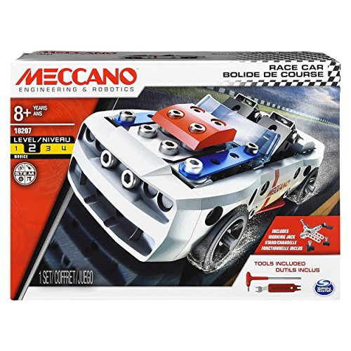 Erector 2 Buggy Set Model - Erector by Meccano - Race Car Model Vehicle Building Kit, for Ages 8 and up, STEM Construction Education Toy