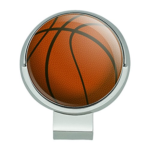 Graphics and More Basketball Ball Golf Hat Clip with Magnetic Ball Marker