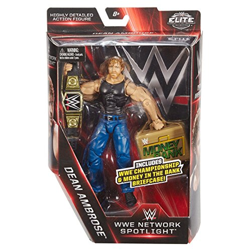 WWE Elite Collection, WWE Network Spotlight 6 Dean Ambrose figure with Championship & Money in the Bank Briefcase by WWE