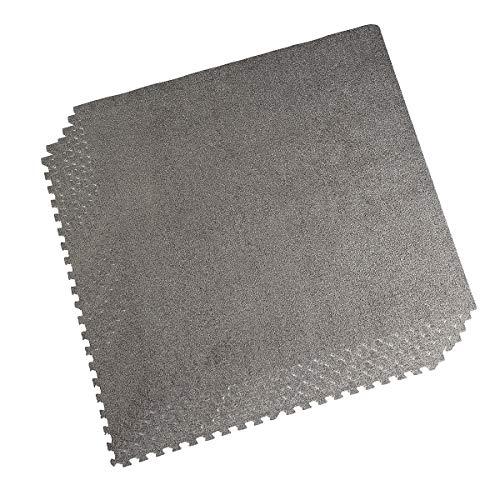 LaFamille Interlocking Foam Floor Mat 6 Tiles 24 sq.ft Puzzle Carpet Flooring Exercise Square Mats Gym,Playroom Floor Mats for Carpet (Jigsaw Floor Mats)