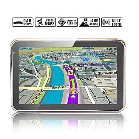 Navegador GPS Noza Tec 5 pulgadas 8 GB para el coche. Incluye mapas de Reino Unido, Irlanda, Europa.: Amazon.es: Electrónica