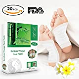 Foot Pads 2in1 (20pcs) - Pain Relief, Antistress, Body Cleansing and Sleep Better - FDA Certified - 100% Organic Foot Patches