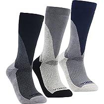 YUEDGE 3-Pair Mens Wicking Cushion Anti Blister Hiking Trekking Walking Socks