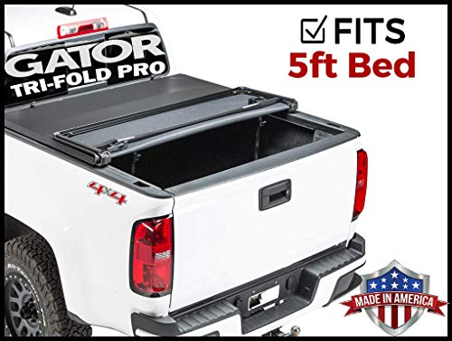 Gator Pro Tri-Fold (fits) 2015-2019 Chevy Colorado GMC Canyon 5 FT Bed Only Soft Folding Tonneau Truck Bed Cover (GSF0131) Made in The USA