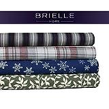 Brielle Cotton Flannel Sheet Set, Twin, Ivy League