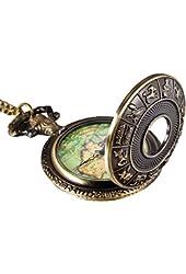 Mudder Bronze 12 Constellation Cover Map Antique Pocket Watch