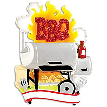 Amazon.com: BBQ Smoker Personalized Christmas Ornament: Home & Kitchen