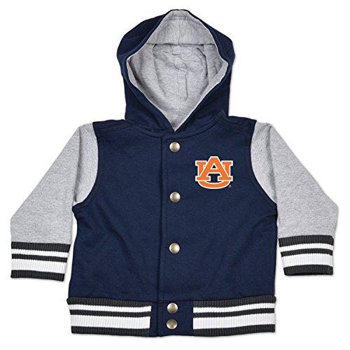 NCAA Auburn Tigers Children Unisex Infant Letterman Jacket, 18 Months, Navy/Oxford