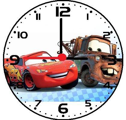 Rusch Inc. Disney Cars McQueen Wall Decor Clock - Disney Plastic Clock