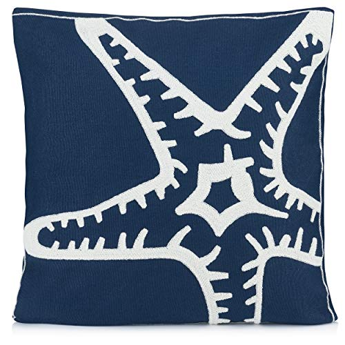 Pillow Decorative Cushion Embroidered Starfish product image
