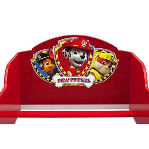 Delta Children Nickelodeon Paw Patrol Safe, Strong, and Sturdy Toddler Bed with Siderails