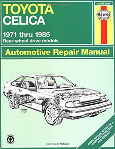 toyota celica 71 85 haynes repair manuals haynes 0038345009358 rh amazon com