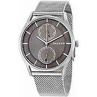 Skagen Men's 'Holst' Quartz Stainless Steel Casual Watch, Color:Silver-Toned (Model: SKW1073)