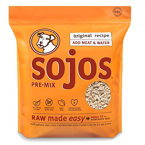 Sojos Pre-Mix Original Natural Dry Raw Freeze Dried Dog Food, 2.5-Pound Bag