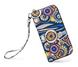 LOVESHE Women wallet Sea Spray Bohemian wristlet Clutch wallets(Sea Spray)