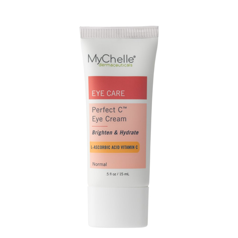 MyChelle Dermaceuticals Perfect C Eye Cream- Advanced Vitamin C Cream for Eye Area Brightening, Nourishment, Anti-Aging Formula, Vegan and Cruelty Free, EWG Verified, 0.5 fl oz