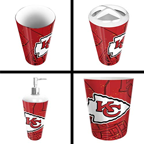 (The Northwest Company Kansas City Chiefs NFL 4 Piece Bathroom Decorative Set (Scatter Series))