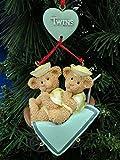 Twin Bear Carriage Christmas Ornament