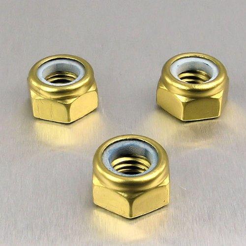 Aluminium Nylock Nut M8 Gold
