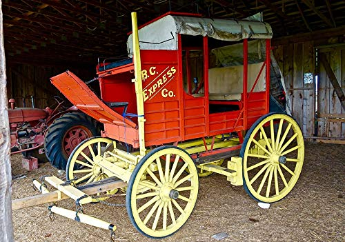 Home Comforts Laminated Poster Carriage Coach Western Stagecoach Vintage Wagon Vivid Imagery Poster Print 11 x 17