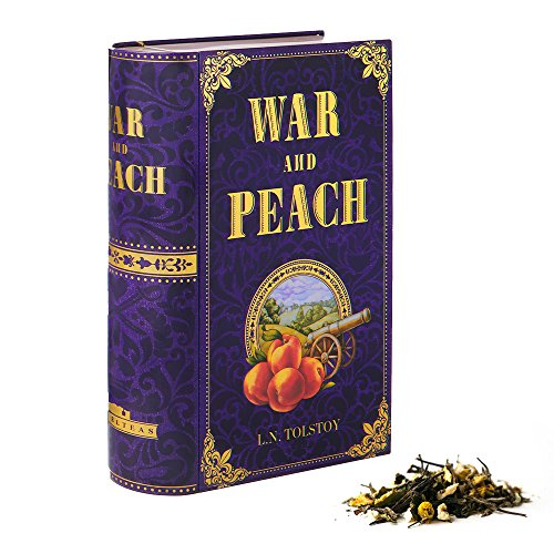 NovelTea Tins | War and Peach by Leo Tolstoy | Literary Gift Tea For Authors