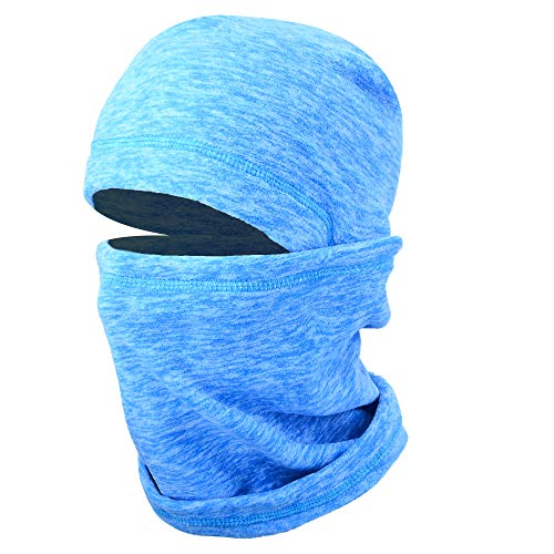 - JIUSY 1 Pack - Thick Fleece Balaclava Neck Warmer Hood Cover Face Mask Windproof Wind Dust Protection for Ski Snowboard Hunting Hiking Walker Camping Cycling Cold Weather Winter Gear Sky Blue