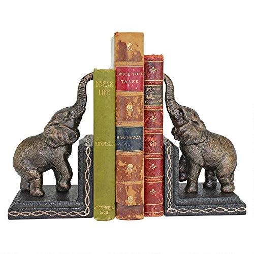 Design Toscano Triumphant Elephant Cast Iron Sculptural Bookend Pair, Gold by Design Toscano