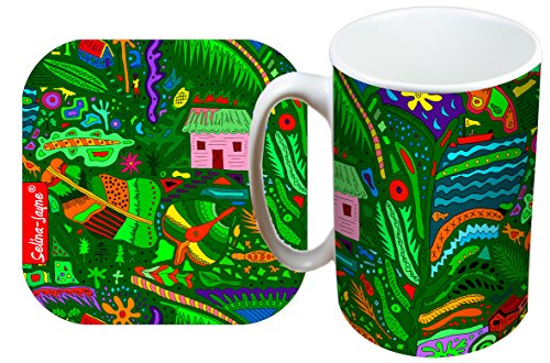 (Selina-Jayne Tropical Island Limited Edition Designer Mug and Coaster Gift Set)