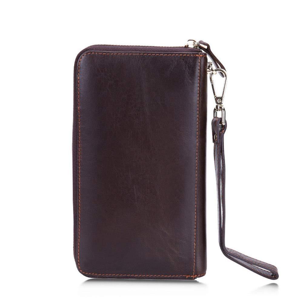 Myzixuan New Mens Long Leather Wallet Large Capacity Casual Practical Handbag Mens Wallet 11202cm