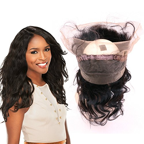 360 Lace Frontal Closure Body Wave Human Hair BeiKaShang 8A Virgin Peruvian Hair Ear To Ear 360 Lace Frontal Closure Middle Part 16 inch