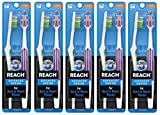 REACH Advanced Design Toothbrushes, Firm, 10-Count